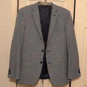 Other - Men's Navy / Green / White Small Checkered Jacket